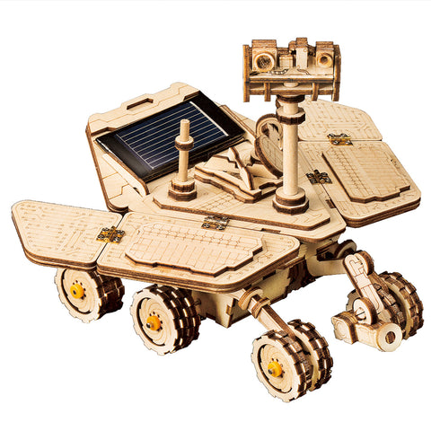 3D Wooden Puzzle Movement Assembled Solar Energy Powered Toys Space Hunting Opportunity Rover- LS503
