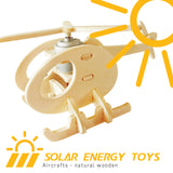 Solar Energy Drived - Natural Wooden Aircrafts - Helicopter-A P230