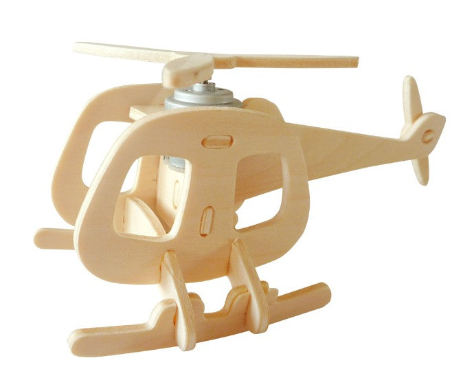 Solar Energy Drived - Natural Wooden Aircrafts - Helicopter-B P240