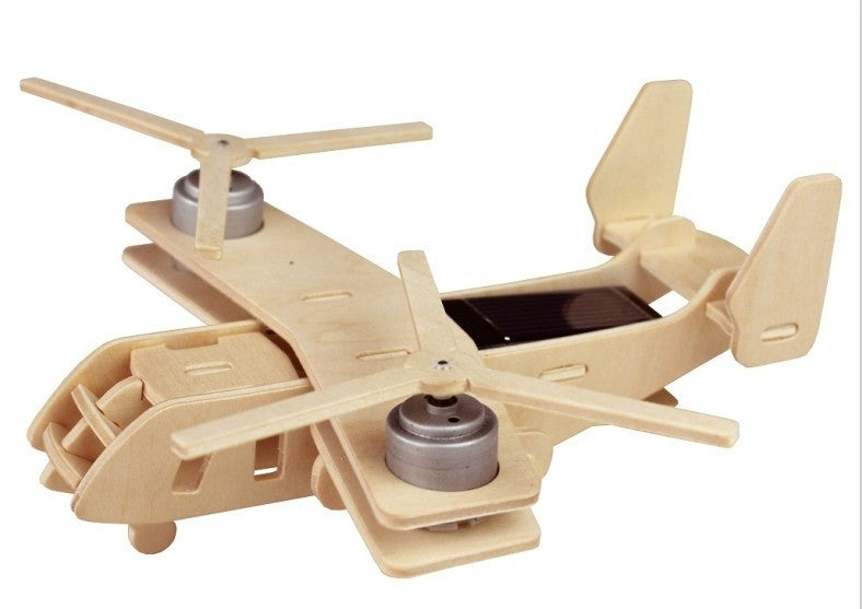 Solar Energy Drived - Natural Wooden Aircrafts - V22 P310
