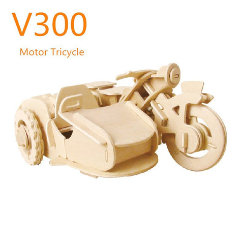 R/C Vehicles-Military Motor Tricycle V300