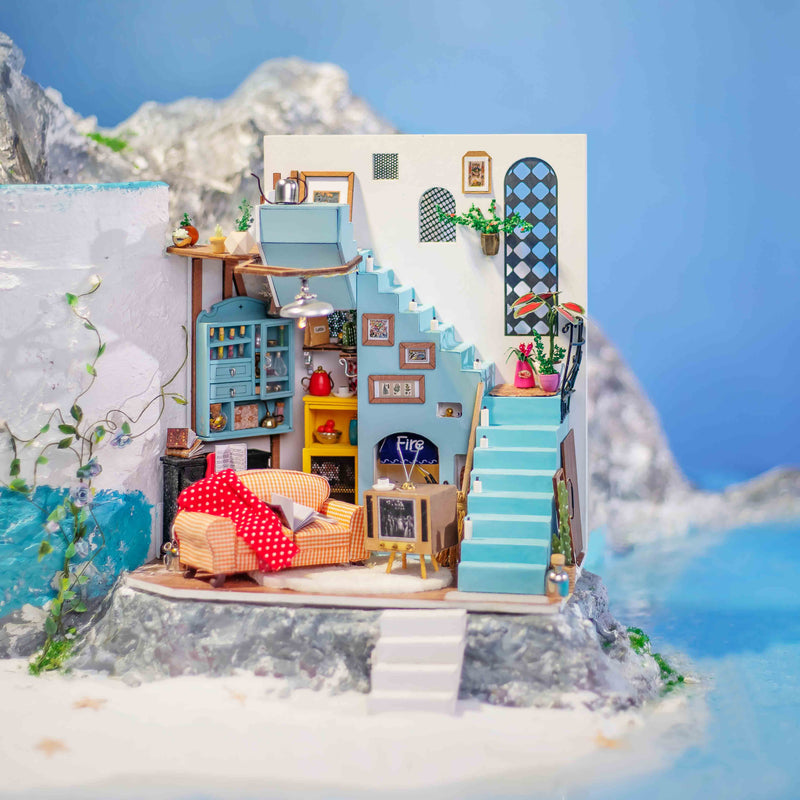 Joy's Peninsula Living Room DG141 DIY Mediterranean Miniature