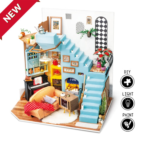 New Arrival DIY Dollhouse - Joy's Peninsula Living Room DG141