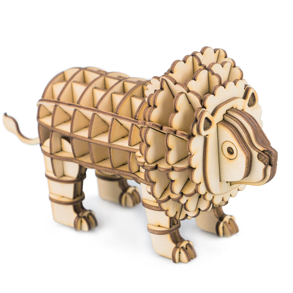 Modern 3D Wooden Puzzle-Wild Animals TG205 Lion