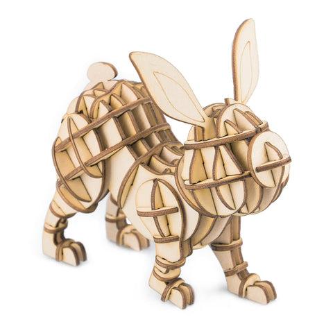 Modern 3D Wooden Puzzle-Farm Animals TG233 Rabbit