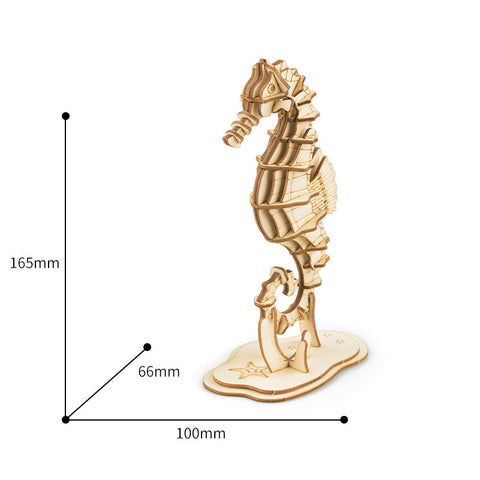 Modern 3D Wooden Puzzle-Sea animals TG271 Sea Horse