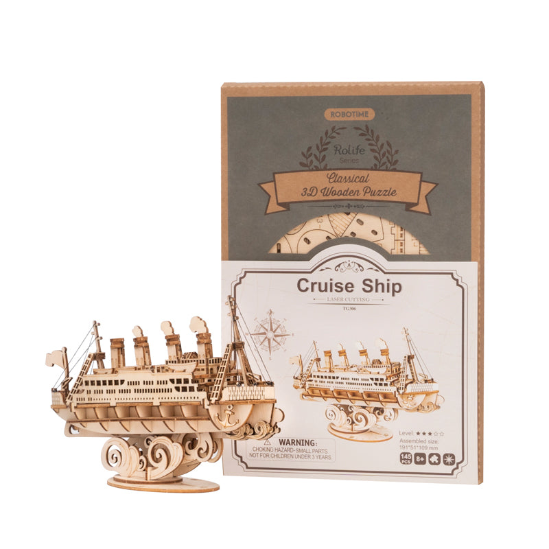 Cruise Ship TG306 3D Wooden Puzzle Decor