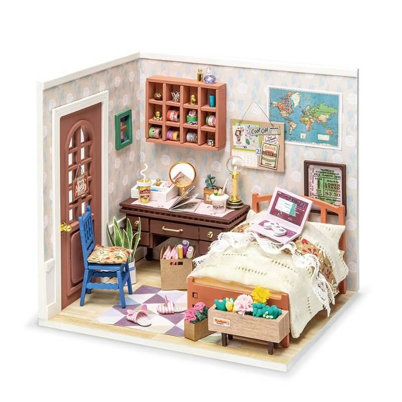 Anne's Bedroom DGM08 DIY Miniature Dollhouse Kit