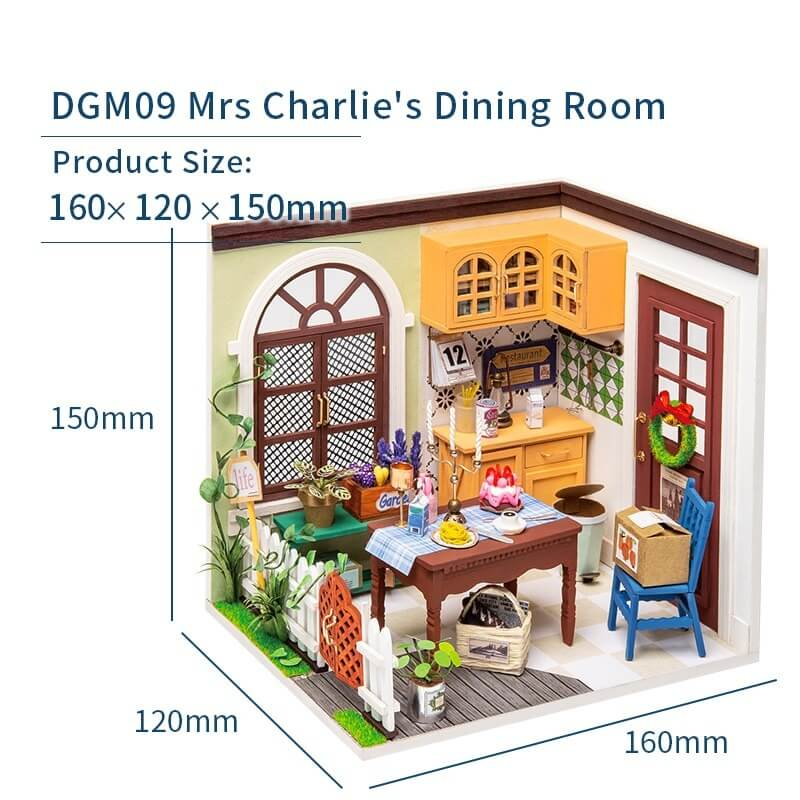Charlie's Dining Room DGM09 DIY Miniature