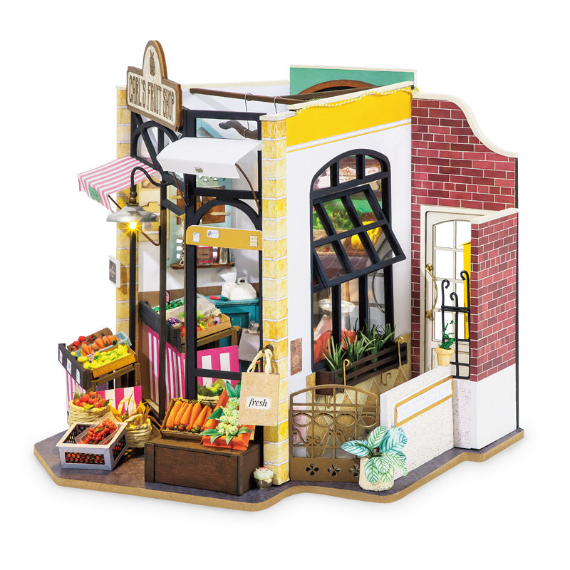 Carl's Fruit Shop DG142 Vegetable Market DIY Miniature