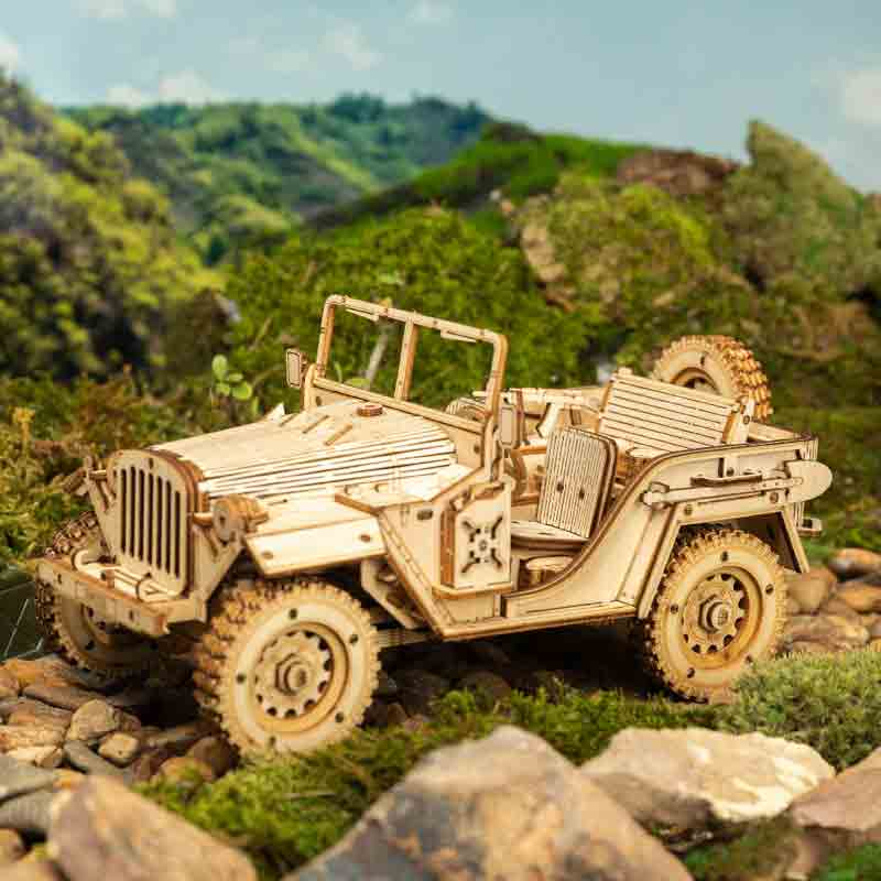 Army Field Car MC701 -1:18 Scale Jeep Model