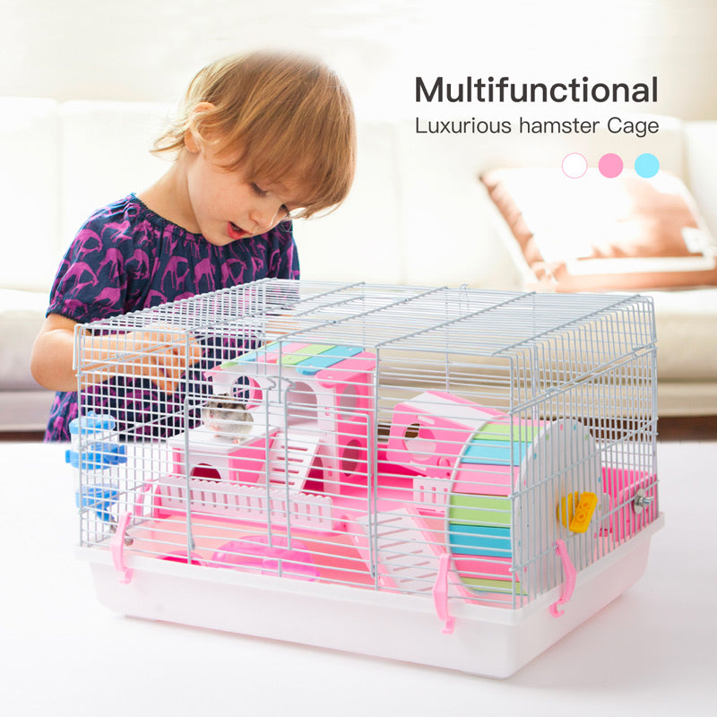 Hamster Cage Luxurious Habitat with Accessories