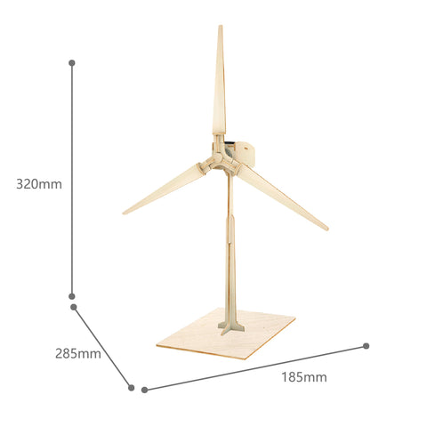 Solar Energy Drived - Natural Wooden Windmills - Wind Turbine W100