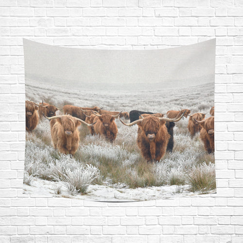 cow 24 Cotton Linen Wall Tapestry 60