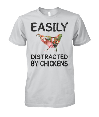 Easily distracted by chickens
