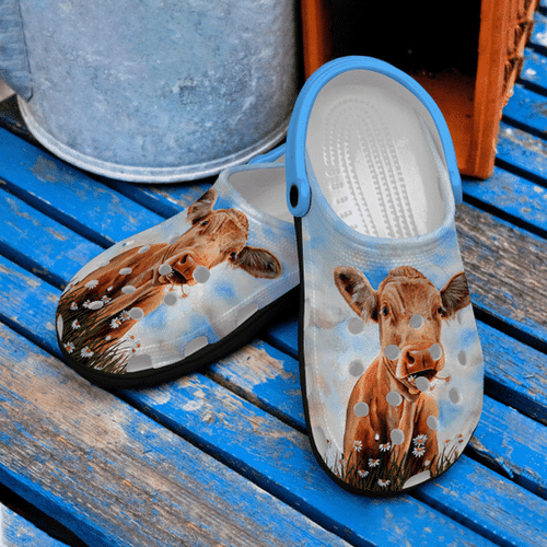 Daisy Cow Croc Clog Unisex Fashion Style For Women, Men Daisy Cow Croc Clog Unisex Fashion Style For Women, Men - Vegamart.com