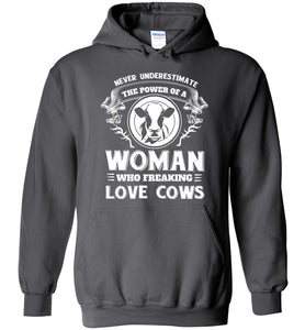 Never underestimate the power of a woman who freaking love cows - Barnsmile.com-Barnsmile.com-shirt, tees, clothings, accessories, shoes, home decor