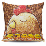 Set animal chicken pillow cover