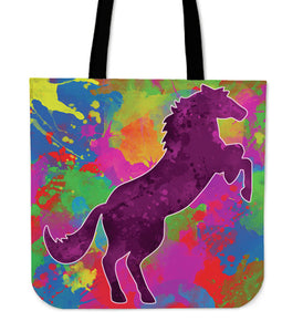 Beautiful Colored Horse Tote Bag!