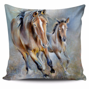 Horse painting - p18-pillow case