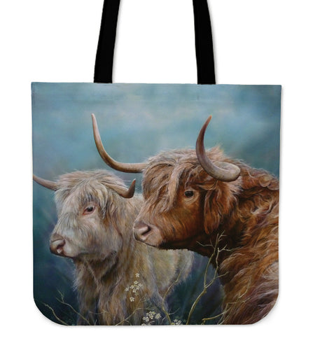 Tote Bag -  Cow painting style 10