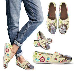 Women's casual shoes Cat flowers