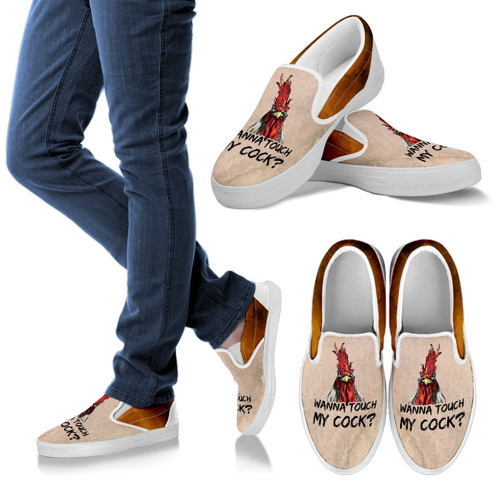 Slip ons for Men, Women & kid - wanna touch my cock?