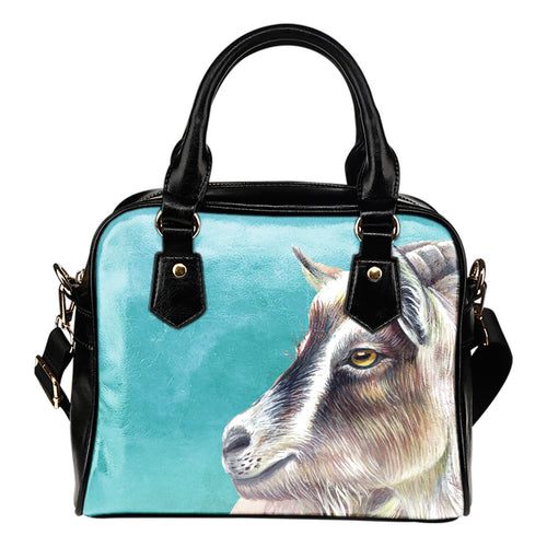 goat painting sea - p2 -  handbag