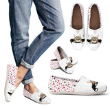 Women's Casual Shoes - Cat and White