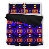 Horse Dark Blue Bedding Set