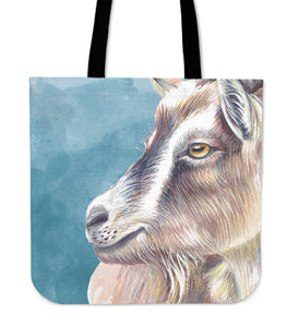 goat painting p2 color - tote bag