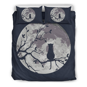 Moon And Cat Bedding Set