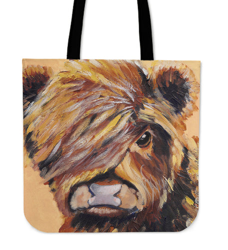 Tote Bag -  Cow painting style 20
