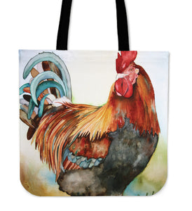 chicken painting-09-tote bag
