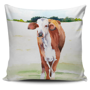 Pillow Cover - cow painting style 04
