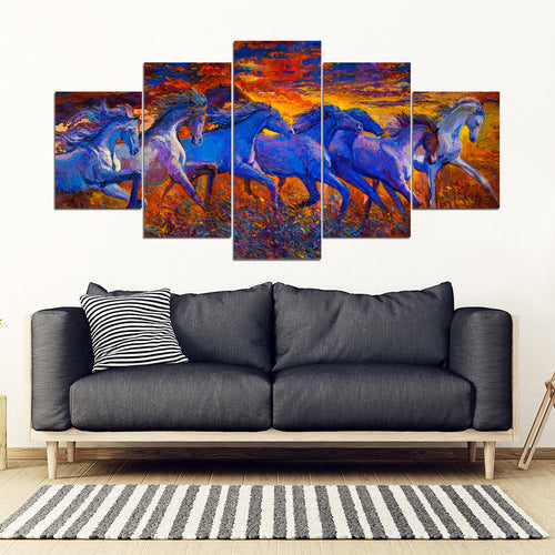 Horse running-print canvas