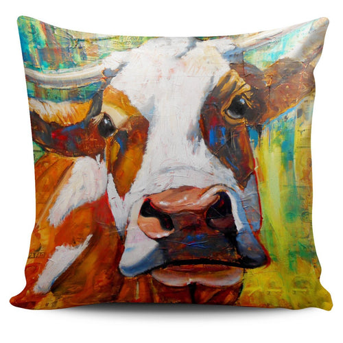 Pillow Cover - cow painting style 17