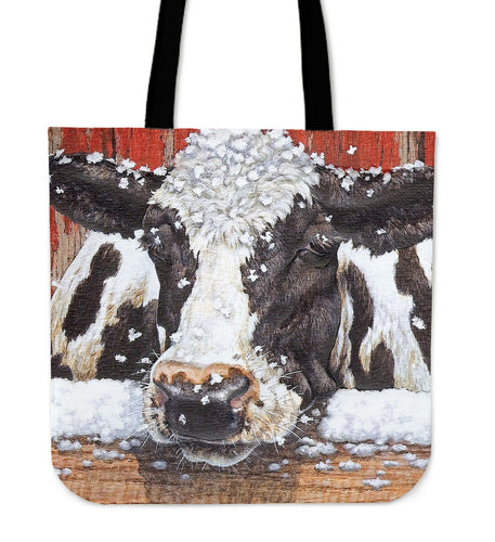 Tote Bag -  Cow painting style 17