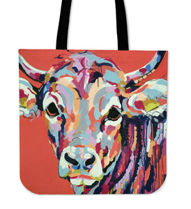 Tote Bag -  Cow painting style 08