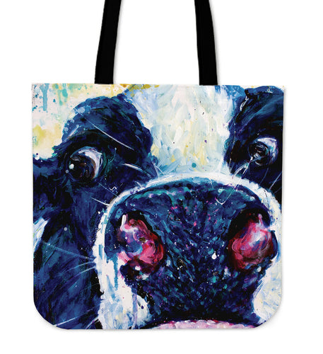Tote Bag -  Cow painting style 12