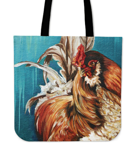 chicken painting-05-tote bag