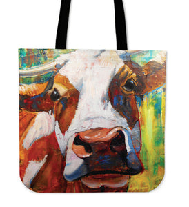 Tote Bag -  Cow painting style 18