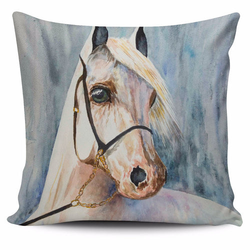 Horse painting - p16-pillow case
