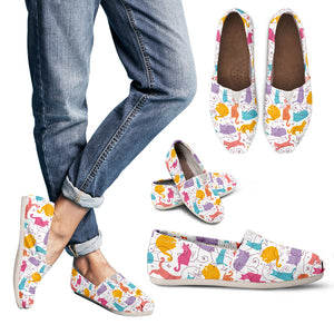 Colorful Cat Women's Casual Shoes