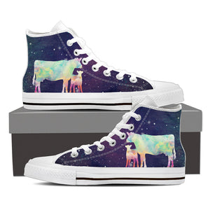 Cow galaxy - Canvas shoe - Barnsmile.com-Barnsmile.com-shirt, tees, clothings, accessories, shoes, home decor