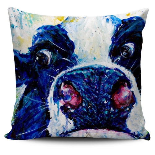 Pillow Cover - cow painting style 11
