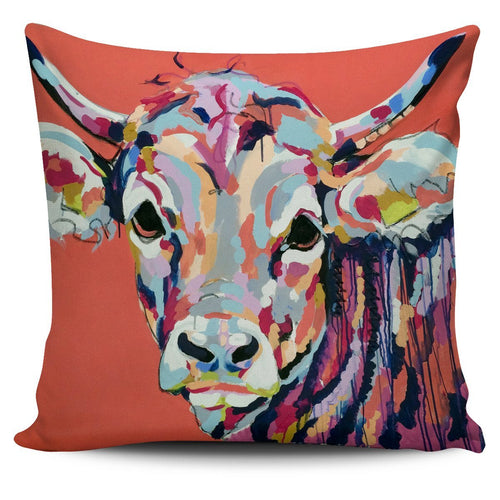 Pillow Cover - cow painting style 07