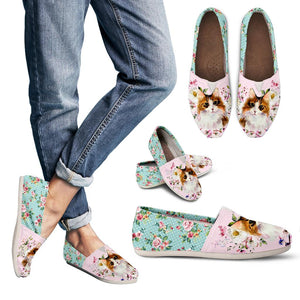Women's Casual Shoes - Cat flowers