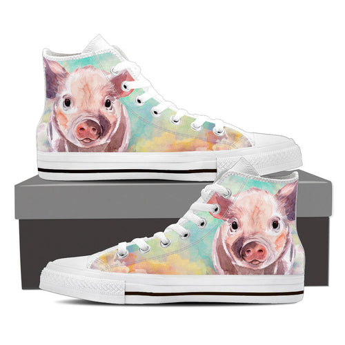 Pig painting-canvas shoes