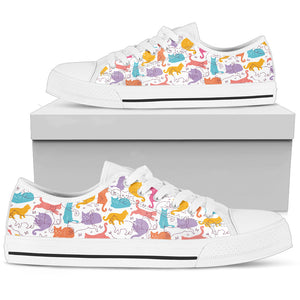 Low top Canvas cute pattern for cat Lovers